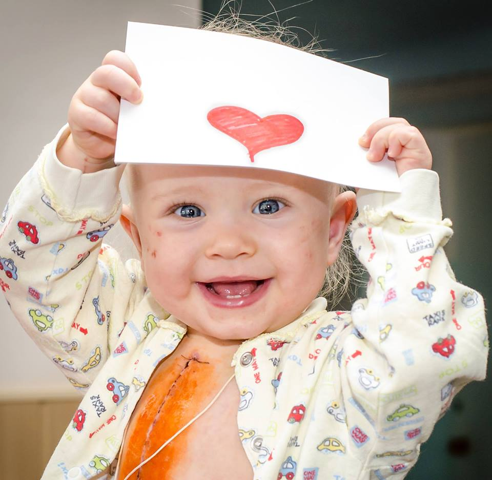Happy Baby with heart picture